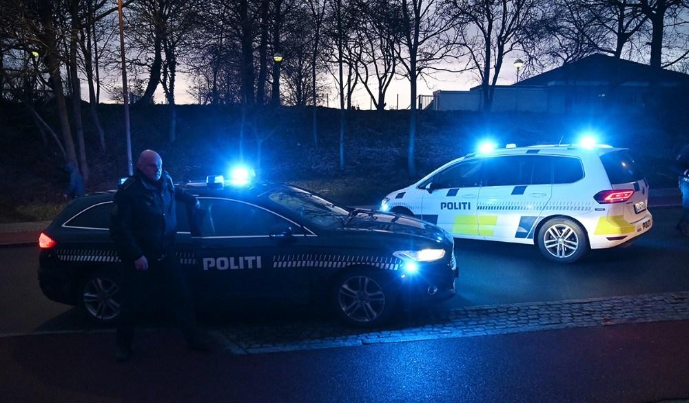 Klosterparkvej spærret for trafik efter skudepisode. Foto: Jens Nielsen