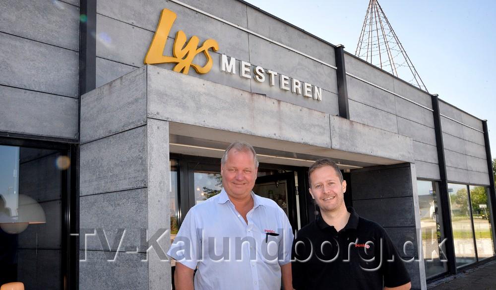 Steen Jensen og Jesper Abkjær Petersen, indehavere af Punkt1 i bl.a. Kalundborg, har i dag overtaget Lysmesteren i Gørlev. Foto: Jens Nielsen