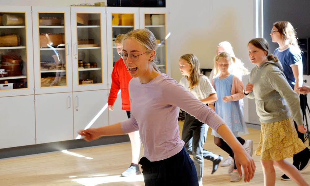 Hovedrollen som den seje Pippi er lagt i hænderne påOlympia Engsvang Nielsen, Kalundborg. Foto: Jens Nielsen