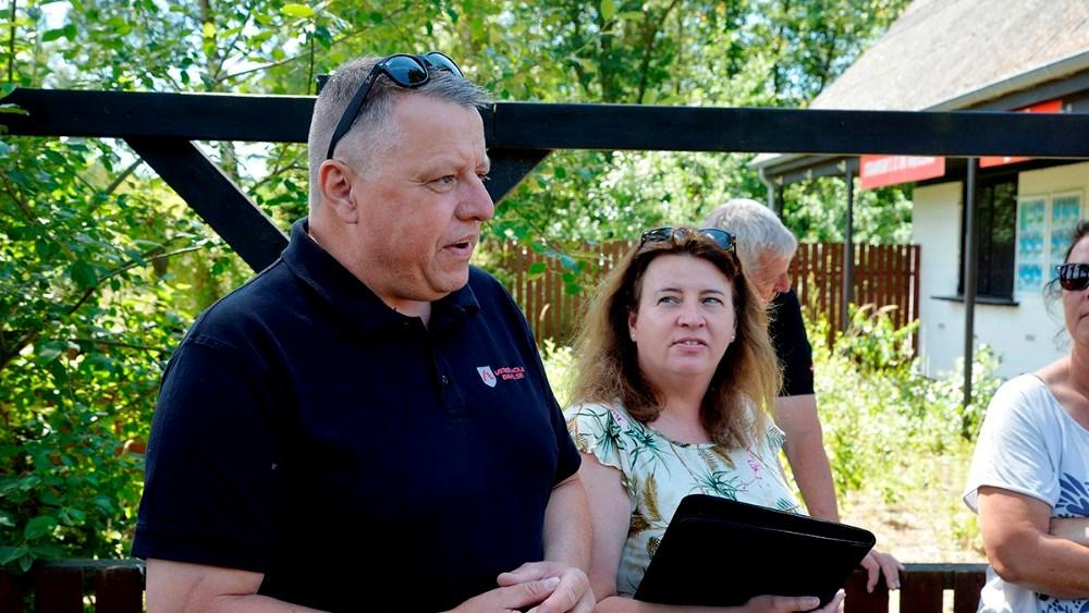 Ægteparret Chanette og Martin Oure Sørensen, havde taget initiativ til mødet søndag. Foto: Jens Nielsen