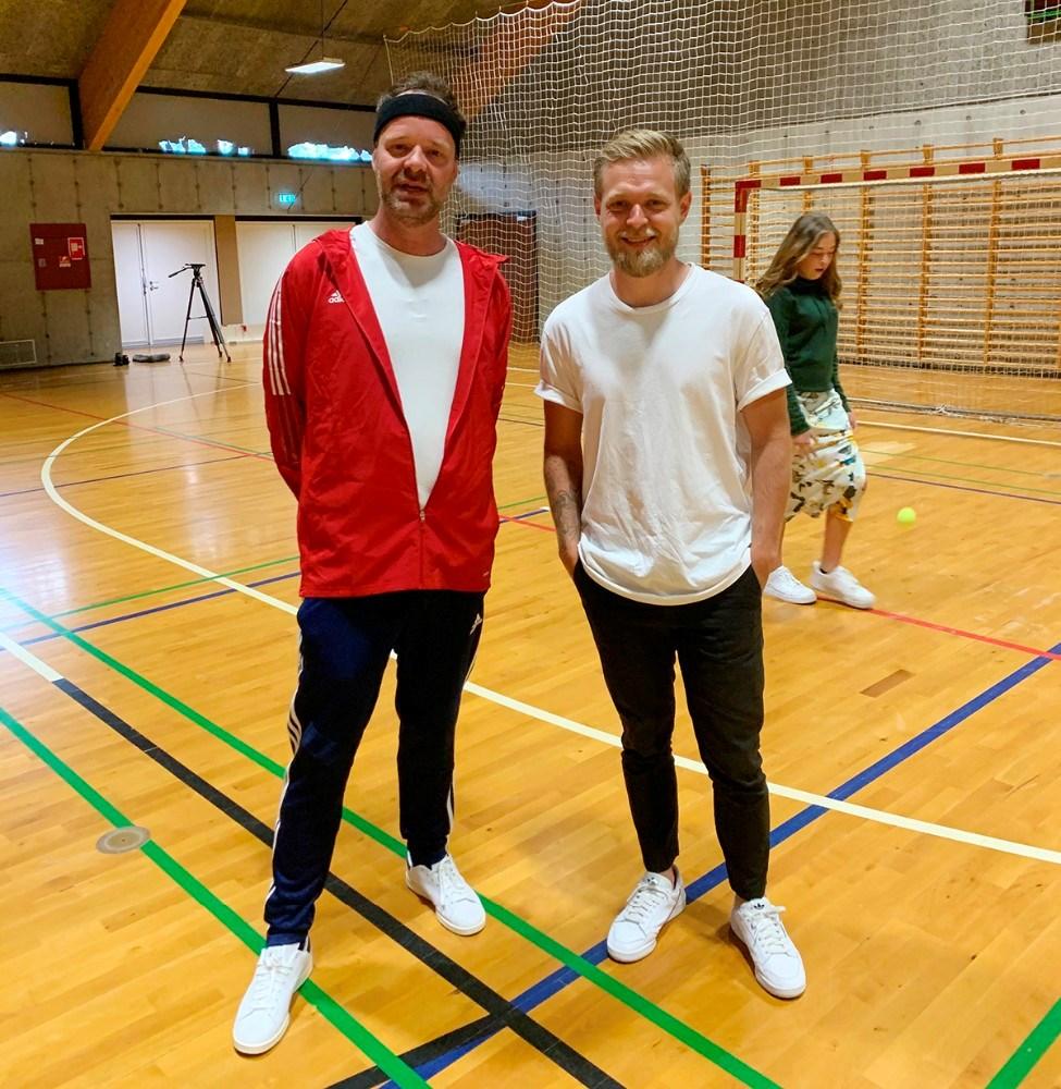 Jacob Riising og Kevin Magnussen i Nyruphallen. Privatfoto