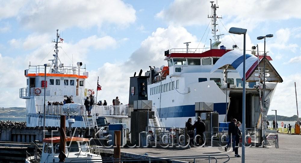 Der har været pres på færgerne til Nekselø og Sejerø, der sejler fra Havnsø. Foto: Jens Nielsen