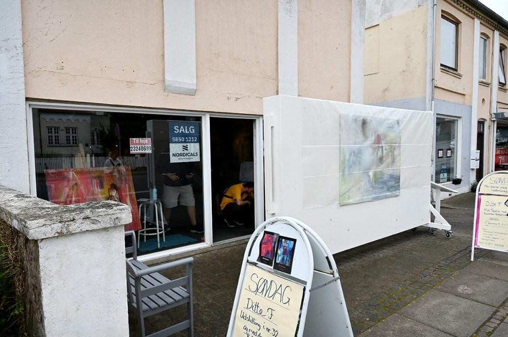 Ditte Forchhammer udstiller i de tomme butikslokaler på Sct. Jørgensbjerg 32 i den nærmeste fremtid. Foto: Jens Nielsen