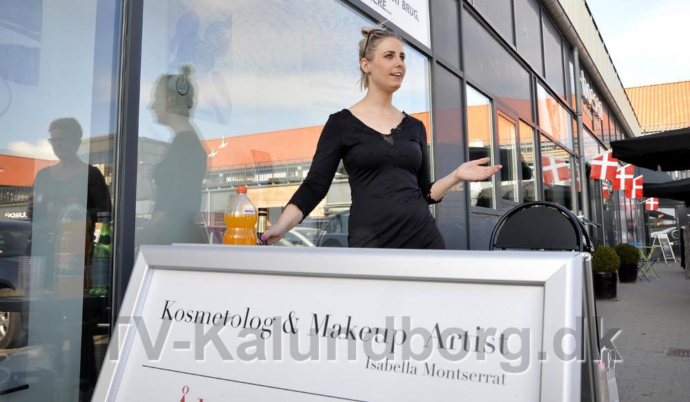 Kosmetolog Isabella Montserrat fejrede åbningen af sin nye skønhedsklinik. Foto: Jens Nielsen