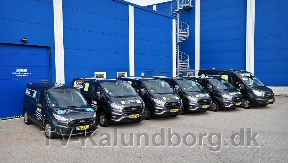 De mange nye biler er købt lokalt hos Hans Frederiksen A/S. Foto: Jens Nielsen