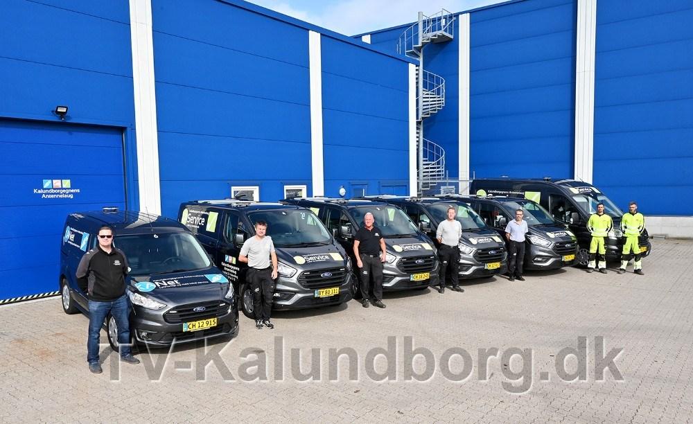 Medarbejderne i serviceafdelingen. Foto: Jens Nielsen