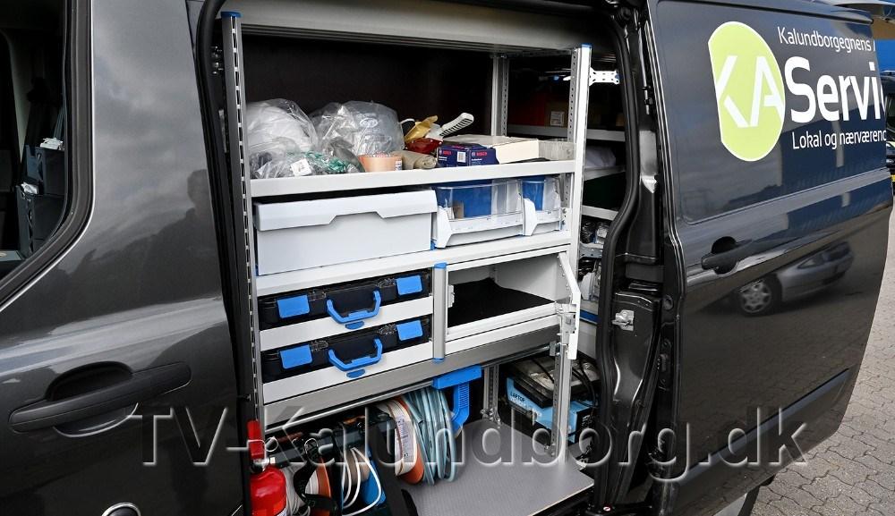 Servicebilerne har også en indbygget værdiboks. Foto: Jens Nielsen