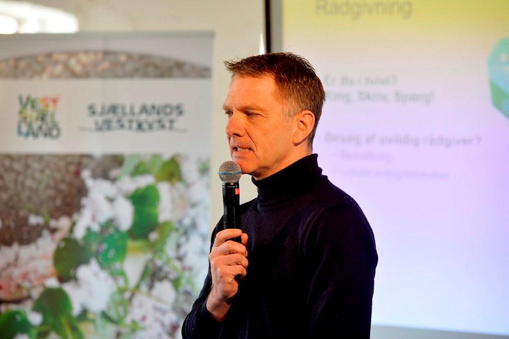 Jens Müller, direktør for Visit Vestsjælland holdt et oplæg om turismen. Foto: Jens Nielsen
