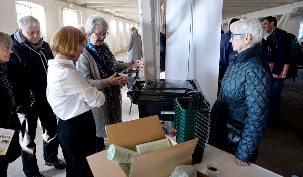 Kalundborg Kommune informerede om affaldsordningen. Foto: Jens Nielsen