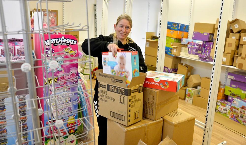 Mette Thrane glæder sig til at åbne sin nye butik på torsdag. Foto: Jens Nielsen