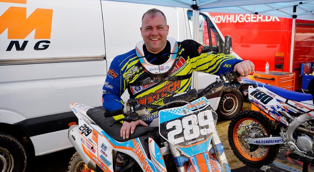 Benny Lorentsen, formand for Svebølle Motocross Klub. Foto: Jens Nielsen