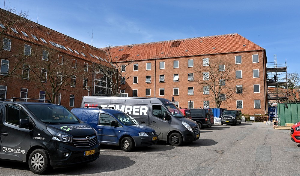 Det gamle sygehus i Kalundborg omdannes nu til kollegieværelser. Foto: Jens Nielsen