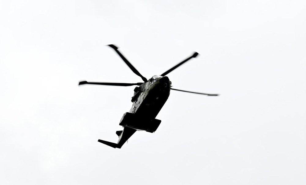 Redningshelikopteren over Vollerup Strand. Foto: Jens Nielsen