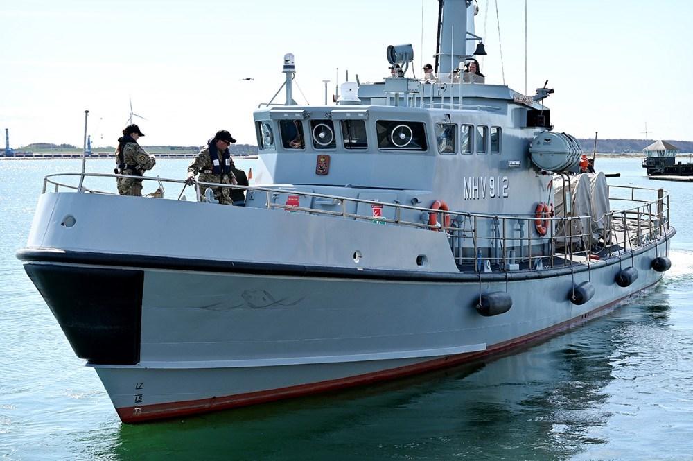 Holger Danske patruljer i Kalundborg Fjord under hele øvelsen. Foto: Jens Nielsen