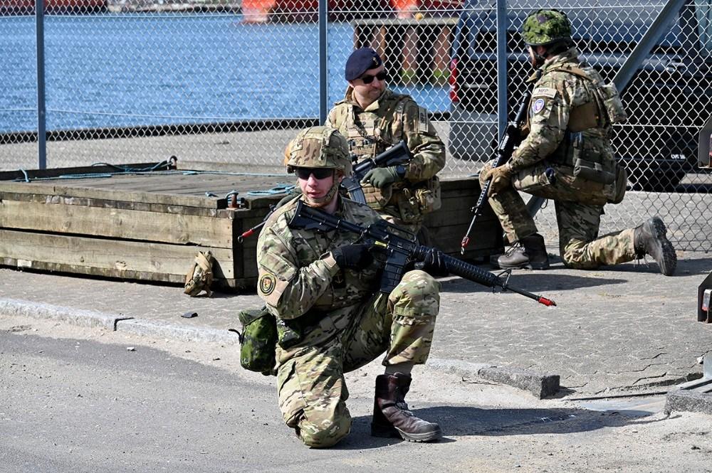 Marinehjemmeværnet har indtaget kaj 12 og 13 på Kalundborg Havn. Foto: Jens Nielsen