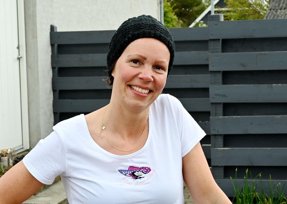 Tanja Døj nåede sit mål og kan donere 5800 kr. til Kræftens Bekæmpelse. Foto: Jens Nielsen