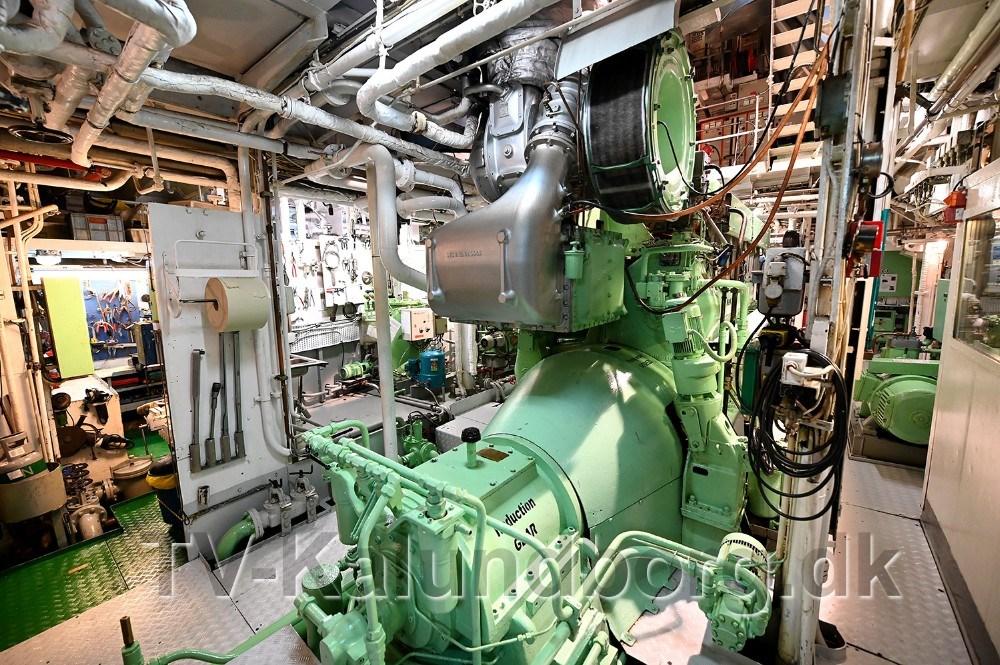 Maskinrummet på M/S Nordstjernen. Foto: Jens Nielsen