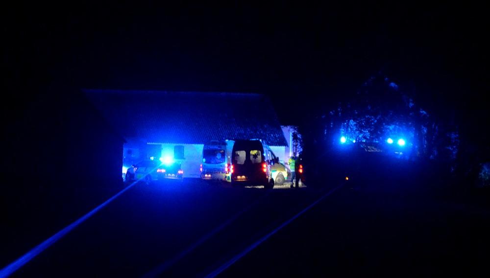Der blev sendt fem ambulancer til stedet. Foto: Jens Nielsen