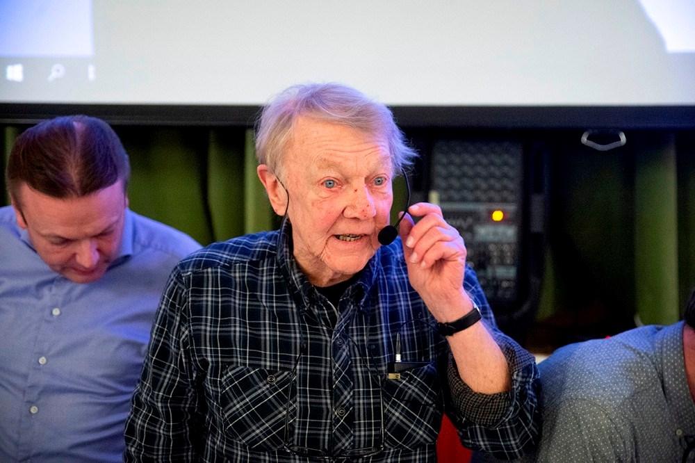 Ordstyrer John Wilken fra foreningen Nej til motorvej på Røsnæs. Foto: Jens Nielsen