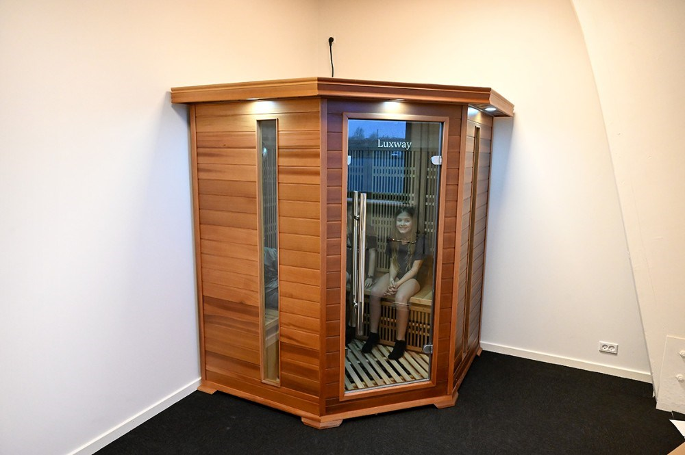 Der er også blevet plads til en infrarød sauna. Foto: Jens Nielsen
