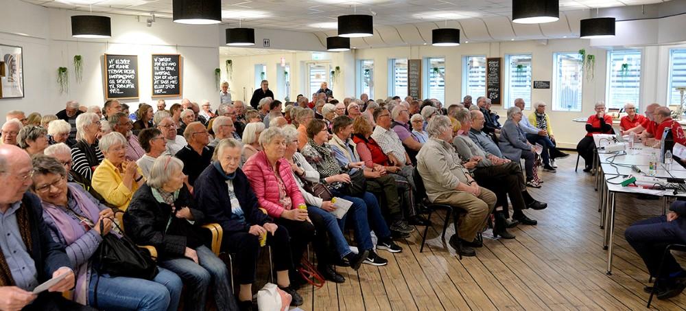 Omkring 150 medlemmer var mødt op til generalforsamling i Kalundborg Brugsforening, onsdag aften. Foto: Jens Nielsen
