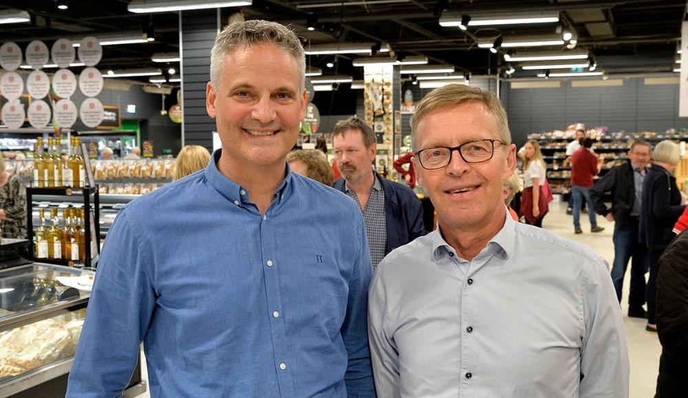 Direktør i Kalundborg Brugsforening, Keld Haarpanen sammen med bestyrelsesformand Bjarne Dybdahl Andersen. Foto: Jens Nielsen