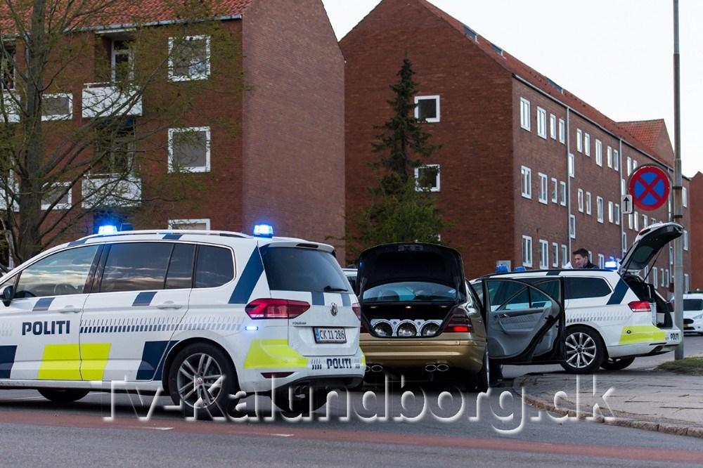 Biljagten endte i krydset Nørre Alle-Nyvangsvej. Foto: Jokum Tord Larsen