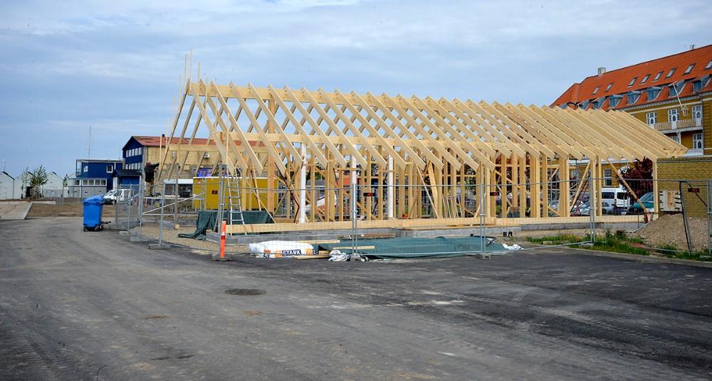 Det nye fælleshus tager form. Foto: Jens Nielsen