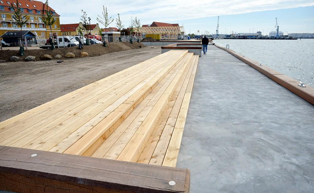 En flot måde at løse højvandssikringen på. Foto: Jens Nielsen