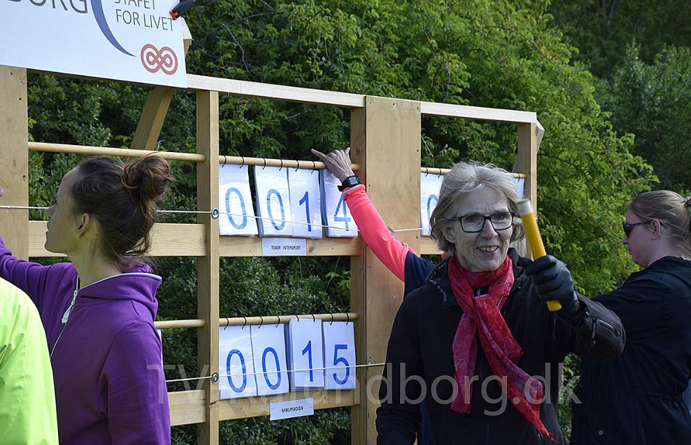 Stafet For Livet er igen i gang i Munkesøen i Kalundborg. Foto: Gitte Korsgaard.