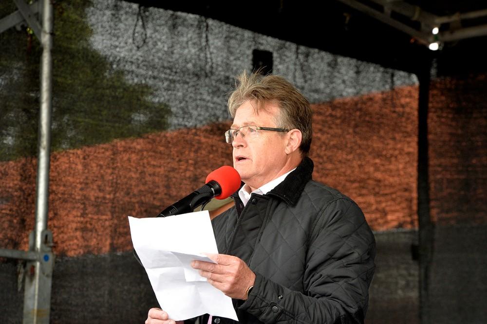 John Højbusk, initiativtager til folkemødet i Kalundborg. Foto: Jens Nielsen