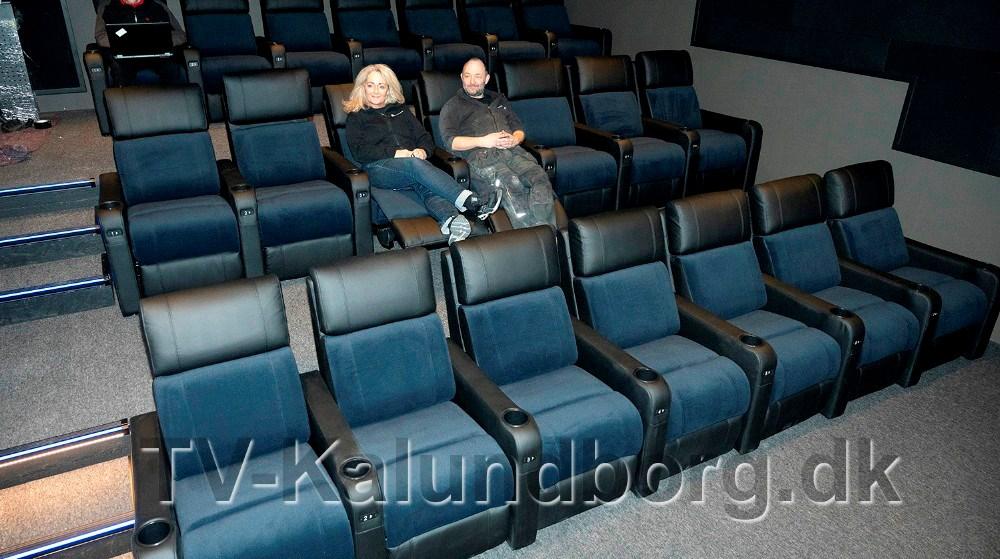 Den nye lækre biografsal med stole, der kan ligge ned, blev færdig få dage før, at corona krisen lukkede samfundet ned. Arkivfoto: Jens Nielsen.