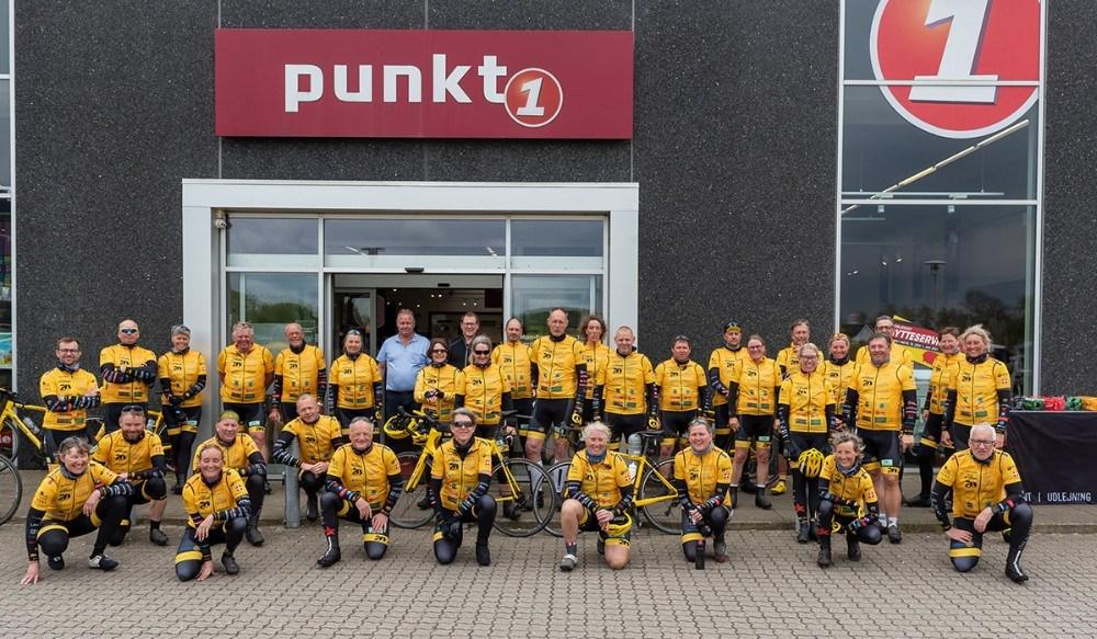 Team Rynkeby Holbæk var forbi Punkt1 lørdag formiddag. Privatfoto