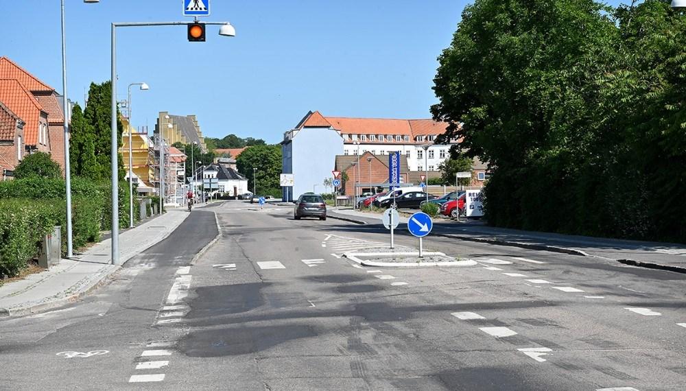 Nu kommer der ny asfalt på Slagelsevej i Kalundborg. Foto: Jens Nielsen
