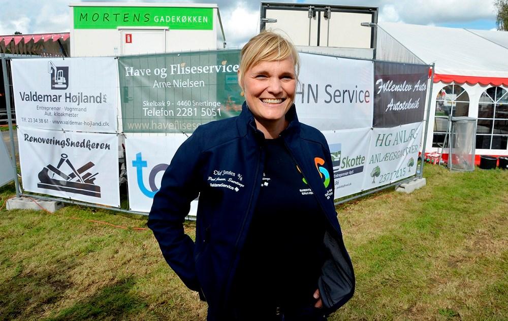 Formand for Snertinge og Omegns Erhvervsforening,  Maria Carlson. Foto: Jens Nielsen