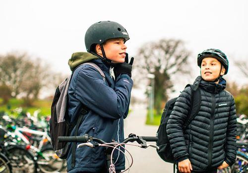 Stadig flere børn spænder hjelmen