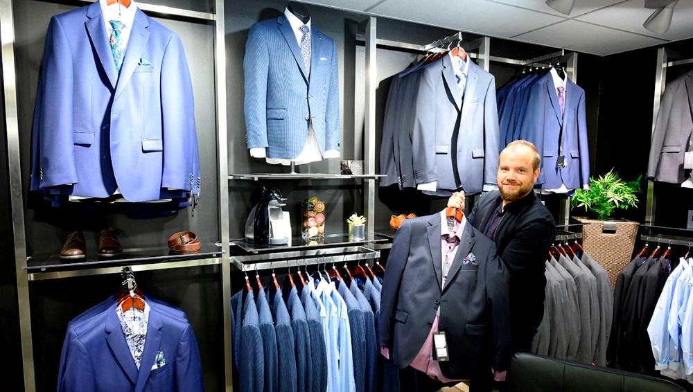Habitter fra firmaet Digel, er nyt hos Bech Menswear. Foto: Jens Nielsen