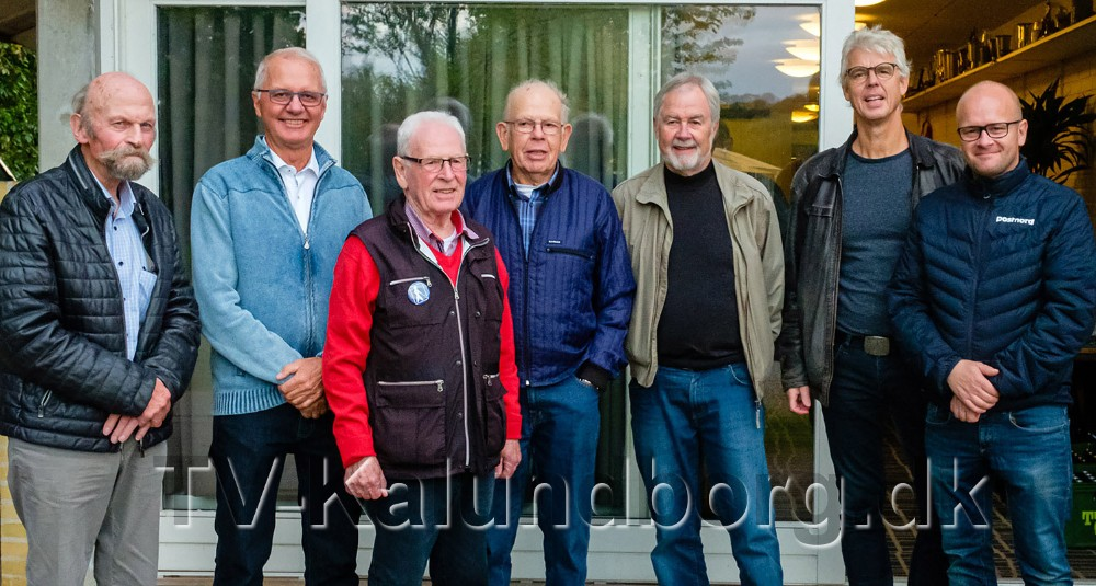 Billed af klubbens syv formænd, fra venstre, Ib Sander Jensen, Leif Jørgensen, Jørgen Berger, Jens Anker Larsen, Ole Stenbæk, Ole Agerbæk og Mikkel Pagh.Foto: Ole Agerbæk