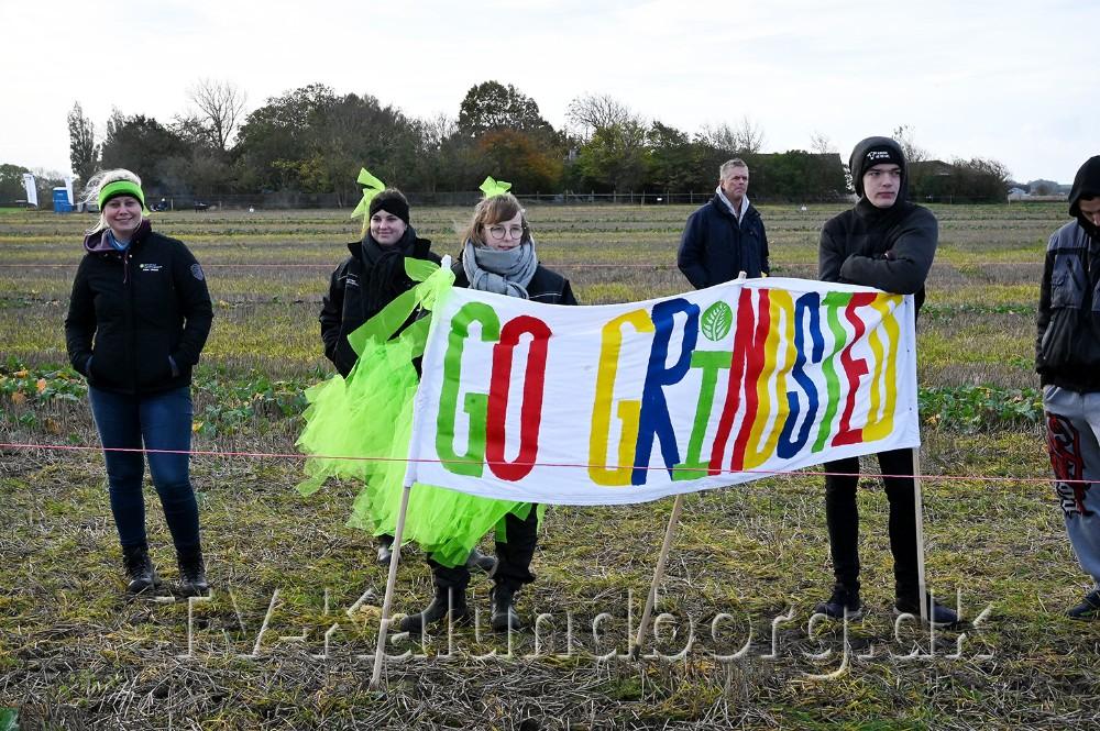 Grindsted Landbrugsskole havde heppekor med. Foto: Jens Nielsen