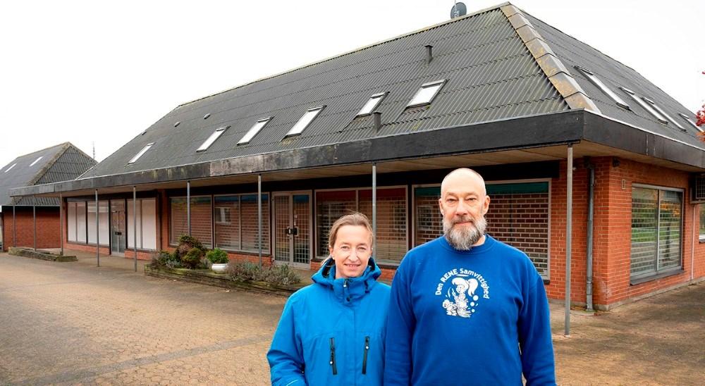 Tina og Michael Schumacher ejer nu hele ejendommen i Svebølle Centret. Foto: Jens Nielsen