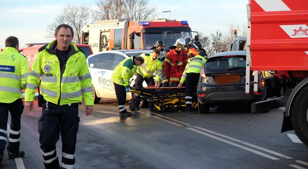 En ældre mand overholdte ikke sin vigepligt og blev ramt af en taxa. Foto: Rene Lind