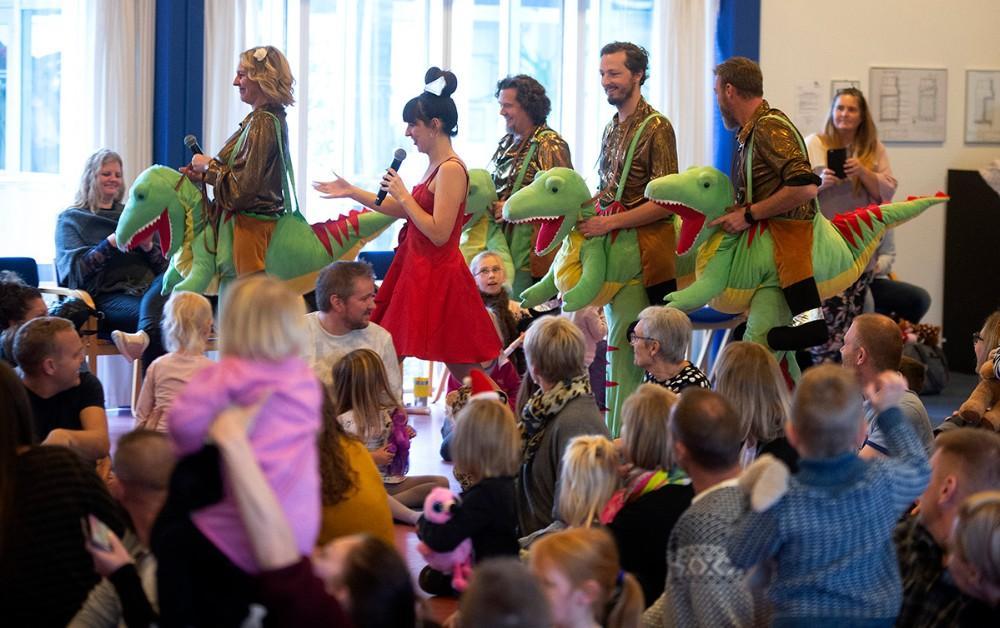 Forrygende koncert med Rosa og Rouladebandet. Foto: Jens Nielsen