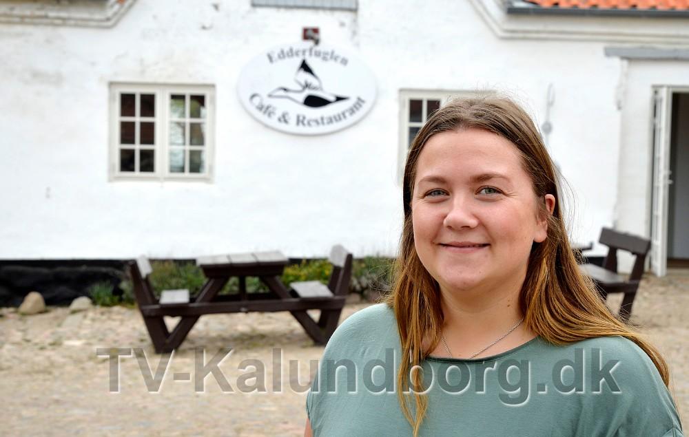 Kok Mathilde Thrysøe, skal stå for den daglige drift på Cafe Edderfuglen. Foto: Jens Nielsen