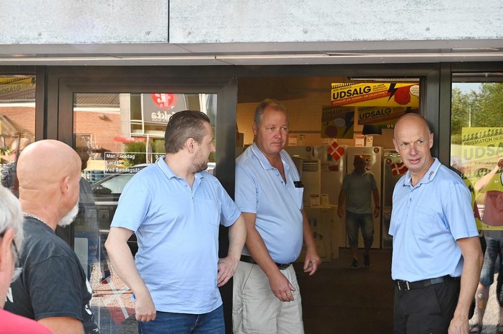 Klar til at lukke kunderne ind. Foto: Jens Nielsen