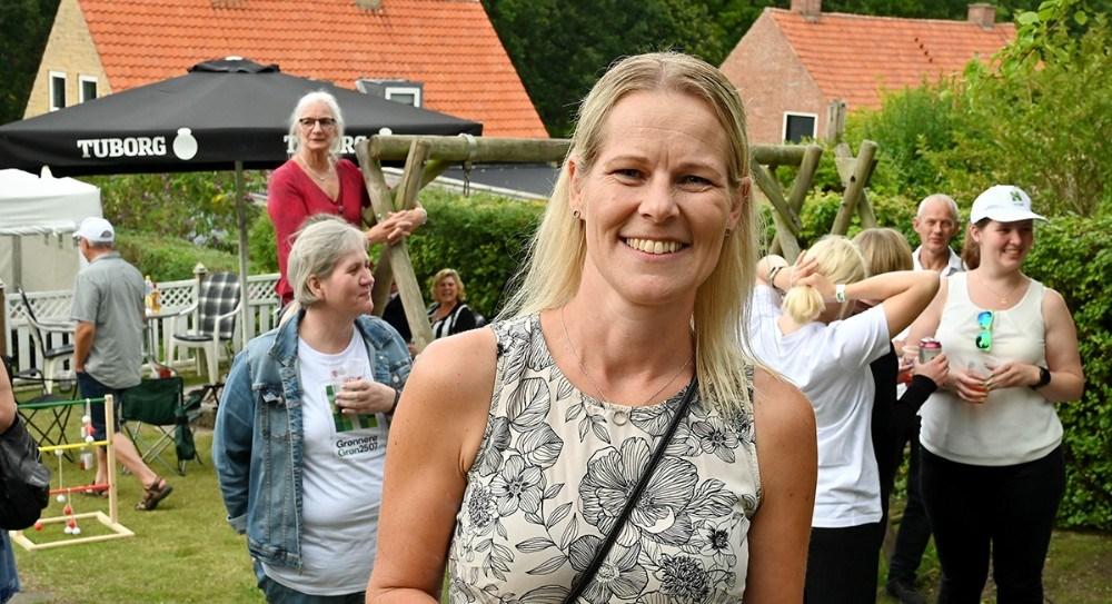 Rikke Nyemann Vind vandt en koncert i sin baghave. Foto: Jens Nielsen