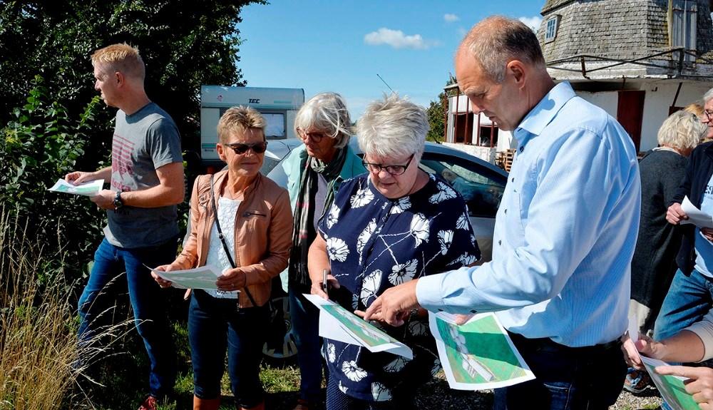 Fra venstre, Thomas Malthesen Hiorth (SF), Gunver Jensen (S), Hanne Olesen (S) og borgmester Martin Damm (V). Foto: Jens Nielsen