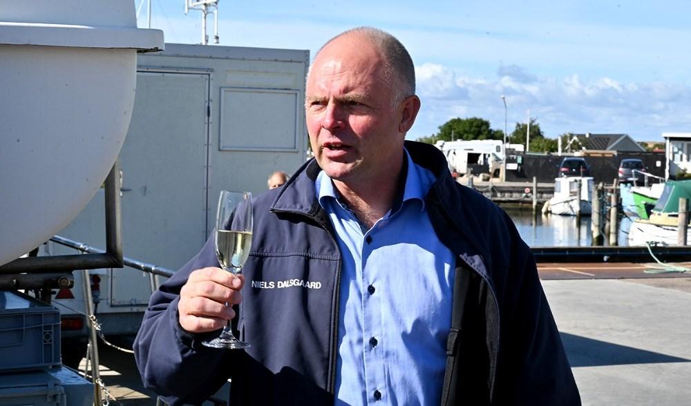 Direktør for Musholm A/S Niels Dalsgaard bød velkommen på Reersø havn. Foto: Jens Nielsen
