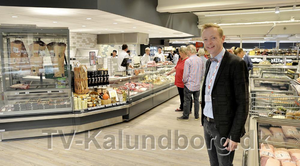Købmand Peter Egebæk er glad for det flotte resultat. Foto: Jens Nielsen