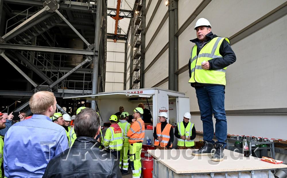 Projektchef Peter Jonsson holdt tale ved rejsegildet. Foto: Jens Nielsen
