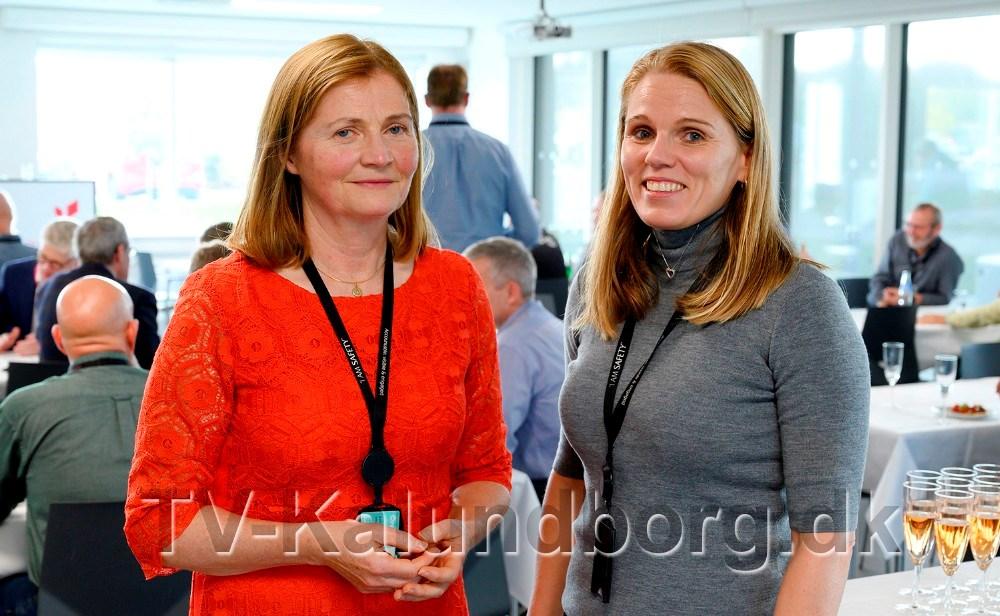 Ny direktør for Equinor Refining Denmark A/S,Sølvi Storsæter Bjørgum, tv højre, sammen medafgående direktørJofrid Klokkehaug. Foto: Jens Nielsen